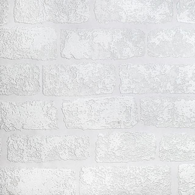 Lincolnshire Brick Paintable Luxury Vinyl Wallpaper Swatch Contemporary  Wallpaper