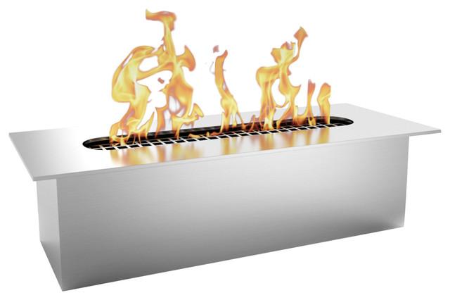 "Regal Flame Slim 8"" Bio Ethanol Fireplace Burner Insert, .5l."