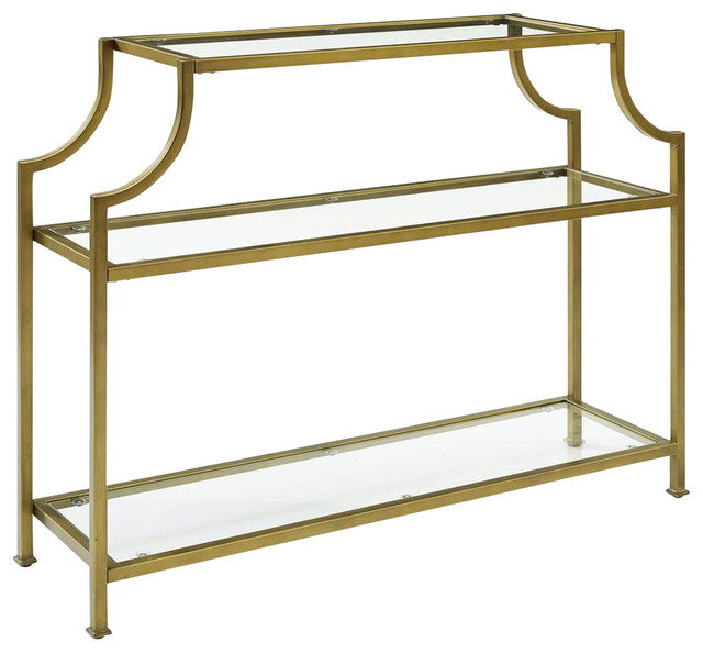 Aimee Glass Console Table.