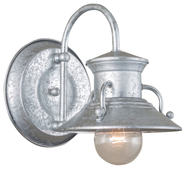 Norwell Lighting Budapest Galvanized Small Outdoor Wall Sconce