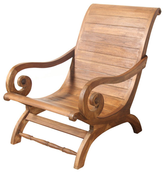 Bali Lounger Lazy Chair Teak Indoor Colonial Style