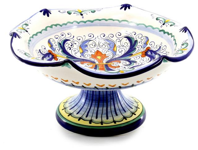 Artistica Bowl Footed Cake Platters Vecchia Deruta