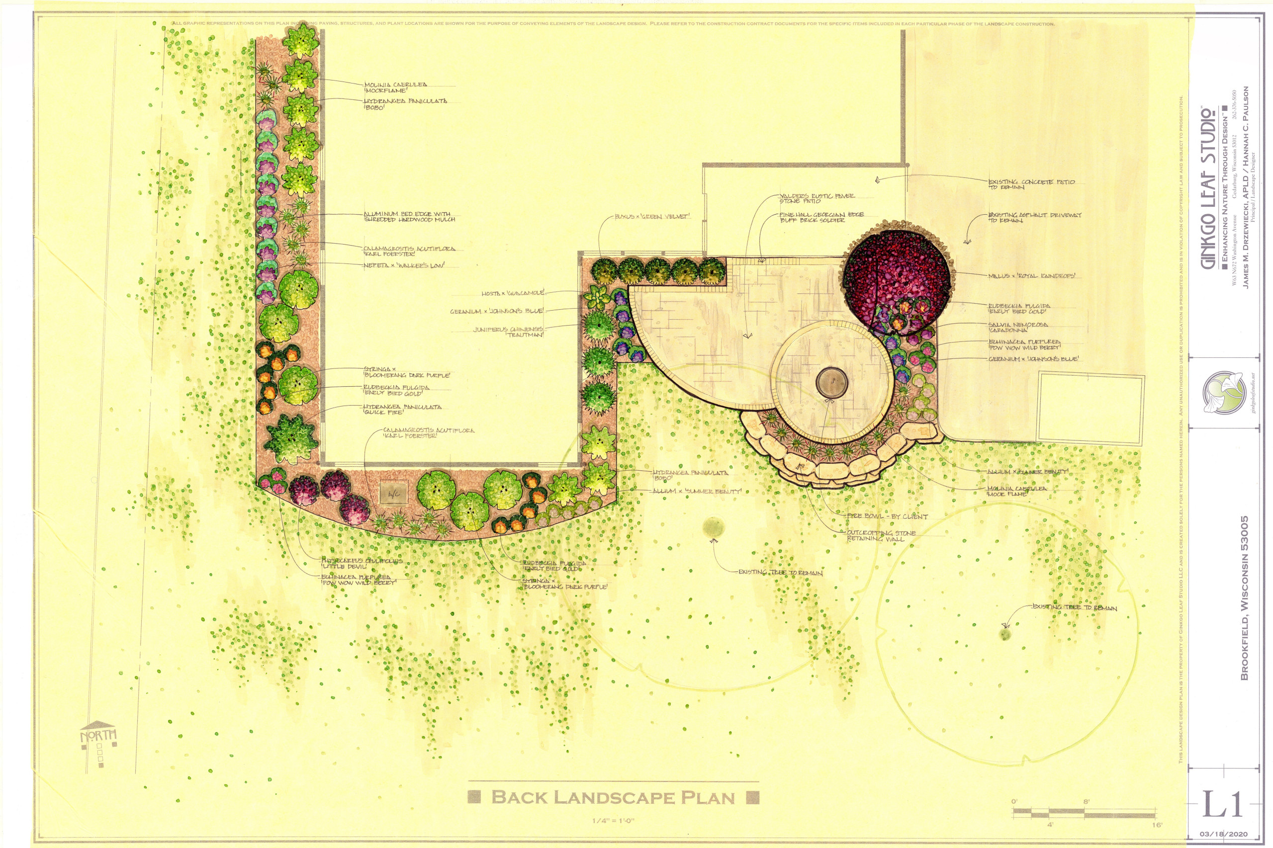 Transitional Patio & Landscape - Brookfield