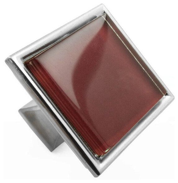 Burgundy Red Crystal Glass Brushed Nickel Madison Classic