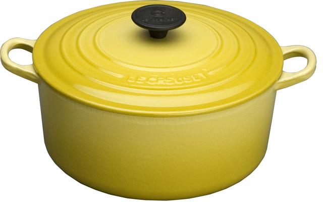 Le Creuset Soleil Yellow Enameled Cast Iron Mini Cocotte 1 3 Quart