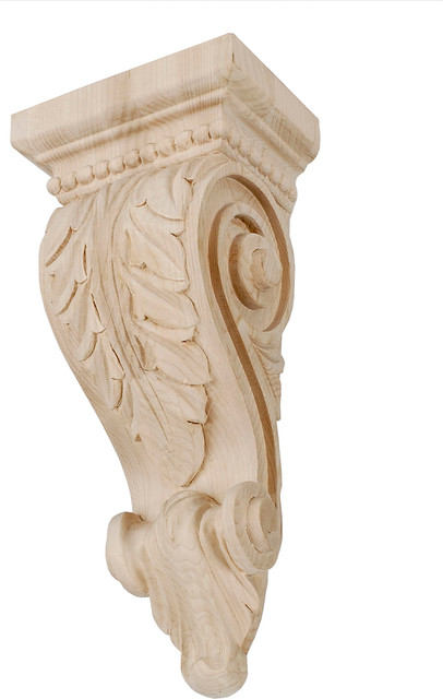 Hand carved acanthus leaf corbel traditional corbels