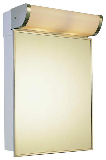 """Deluxe Illuminated Medicine Cabinet Stainless Steel Framed Mirror - 16"""" x 33"""""""