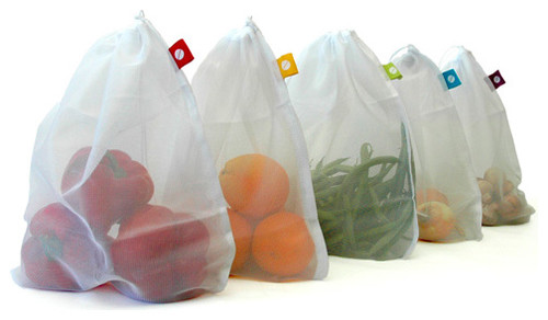 Produce Bags: Set of 5 modern food containers and storage