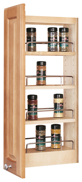 Pull-Out Wood Wall Cabinet Organizer - Transitional - Pantry And ...