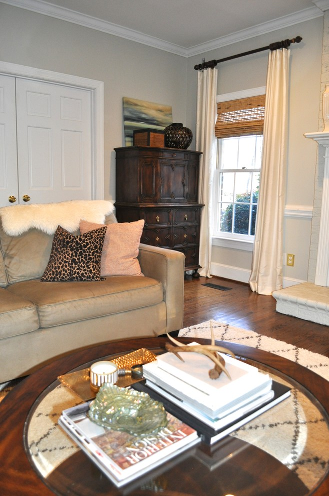 Inspiration for an eclectic family room remodel in Charlotte