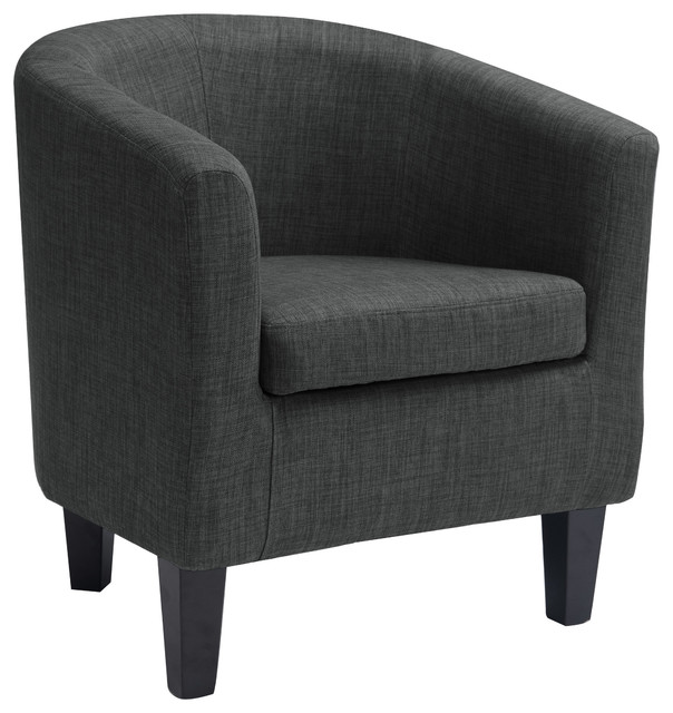 CorLiving Corliving Antonio Tub Chair Dark Grey Fabric  : contemporary armchairs and accent chairs from www.houzz.com size 604 x 640 jpeg 66kB