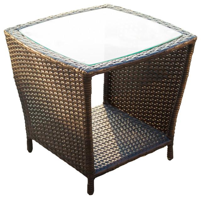 Wicker Accent Table Belvedere Patio