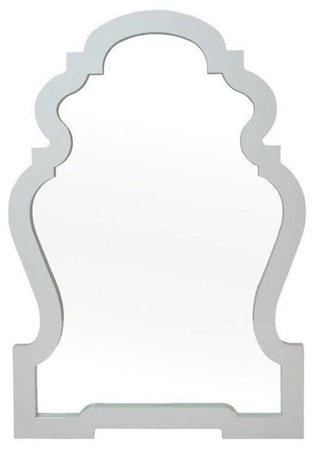 Jonathan Adler Modern White Queen Anne Mirror 700 Est Retail 450 On Chair