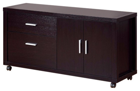 Contemporary File Credenza With Drawers..