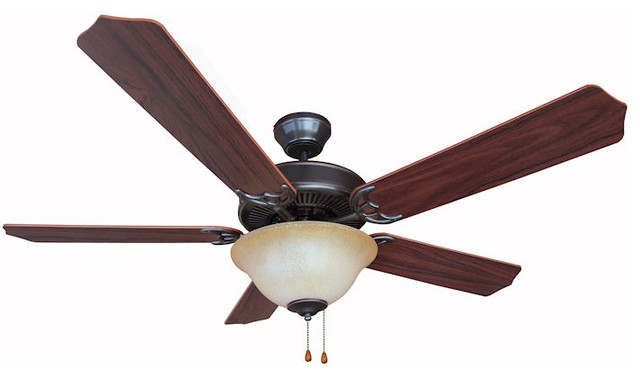 Oil Rubbed Bronze 52 Ceiling Fan With Light Kit.
