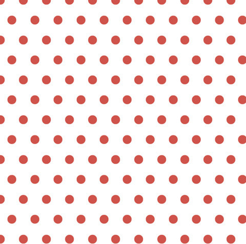 Cranberry Red Polka Dot, 120x12, Laminated Vinyl.