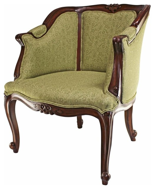 Kingsbury Tub Chair Mia Sage Fabric Gothic And Medieval Chair - Victorian - Armchairs And Accent Chairs - by XoticBrands Home Decor  sc 1 st  Houzz & Kingsbury Tub Chair Mia Sage Fabric Gothic And Medieval Chair ...