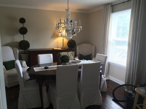 Dining room to office library conversion for Dining room vs office