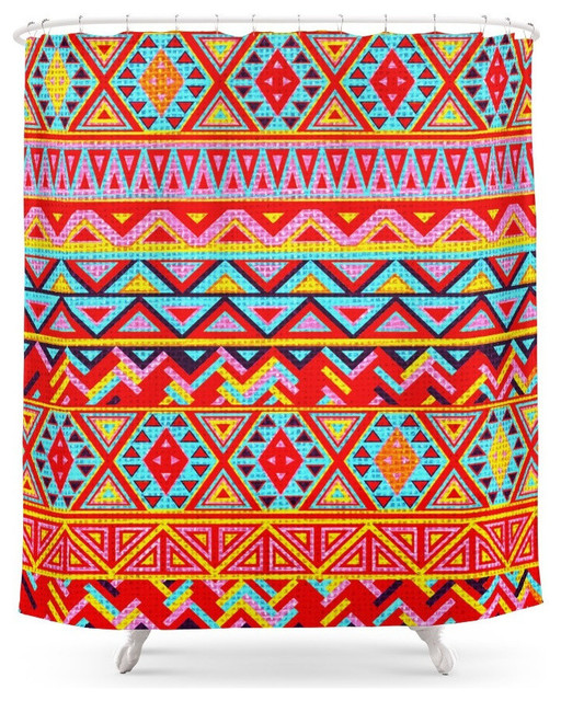India Style Pattern, Multicolor, Shower Curtain