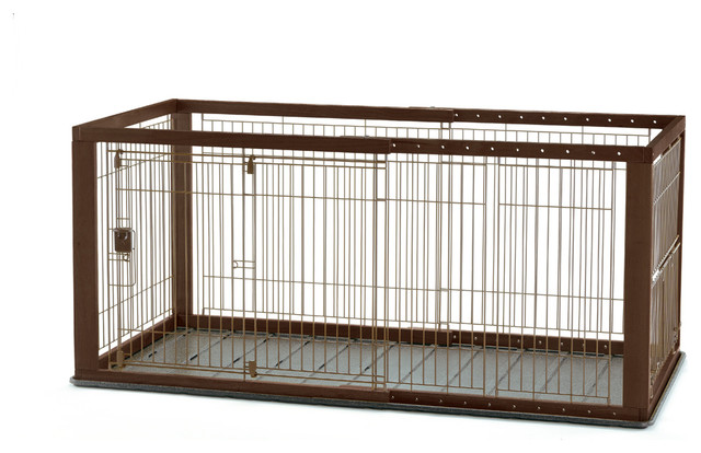 Expandable Pet Crate With Floor Tray Contemporary Dog