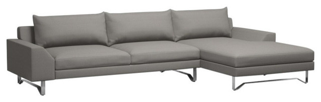 Series 7 sofa with chaise azure brushed nickel 120 for Chaise serie 7
