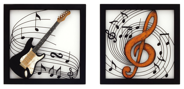 Metal Wall Decor, 2-Piece Set, 24
