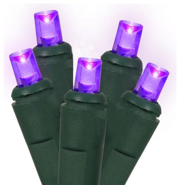 Led Wide Angle Christmas Lights, Purple/green.