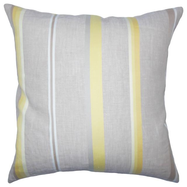 Oormi Striped Bedding Sham Gray Euro Sham 26 X26