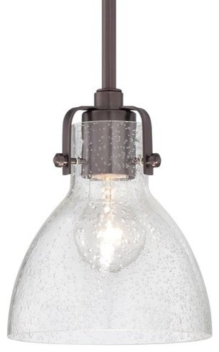 "Minka Lavery 2244-267c Retro Glass 1 Light 8"" H Indoor Mini Pendant."