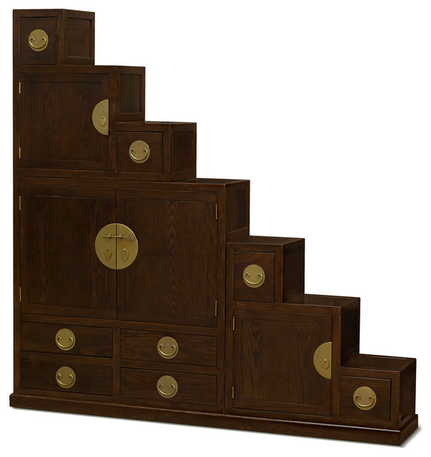 Elmwood Ming Style Step Tansu Chest Asian Accent Chests And Cabinets