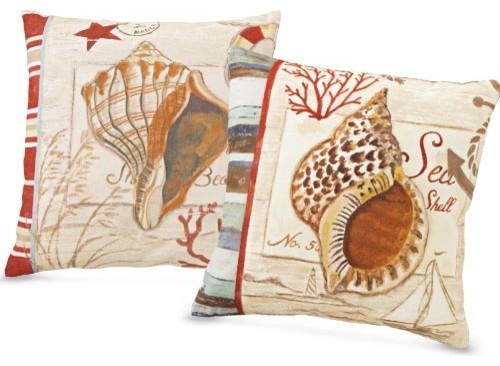 Seashell Pillows Tropical Decorative Pillows