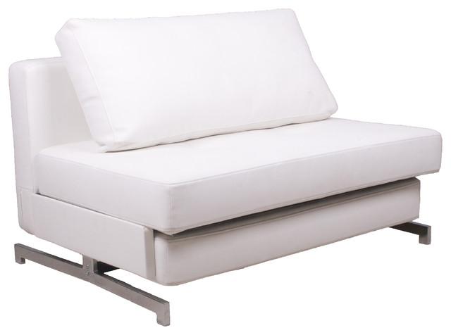 K43-1 Premium Sofa Bed Leatherette, White