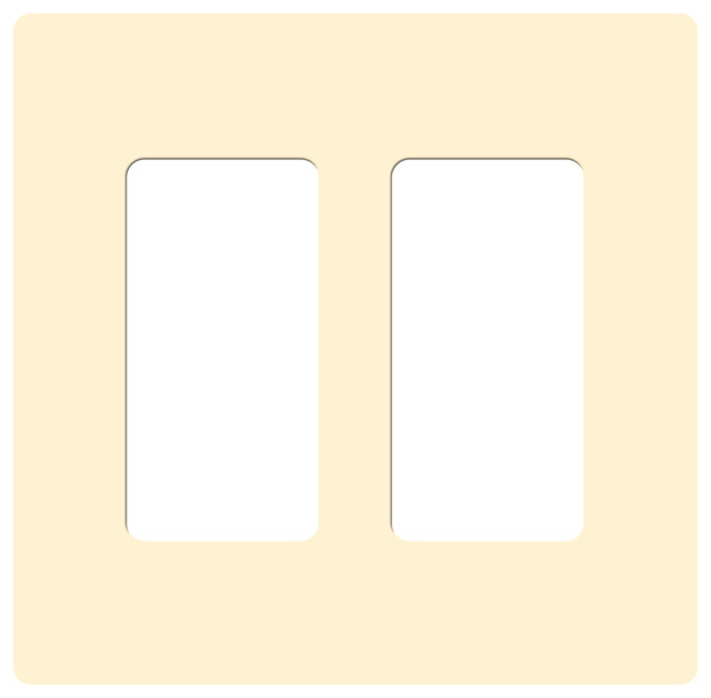 claro two gang rocker wallplate by lutron traditional. Black Bedroom Furniture Sets. Home Design Ideas