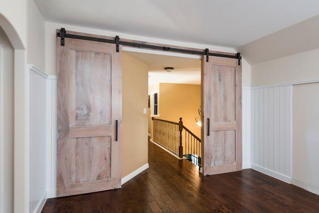 Reclaimed Oak Media Room Doors