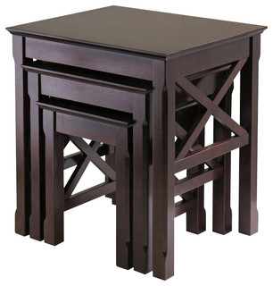 Winsome Xola Nesting Table Set in Cappuccino Finish - Transitional - Side Tables And End Tables - by Homesquare