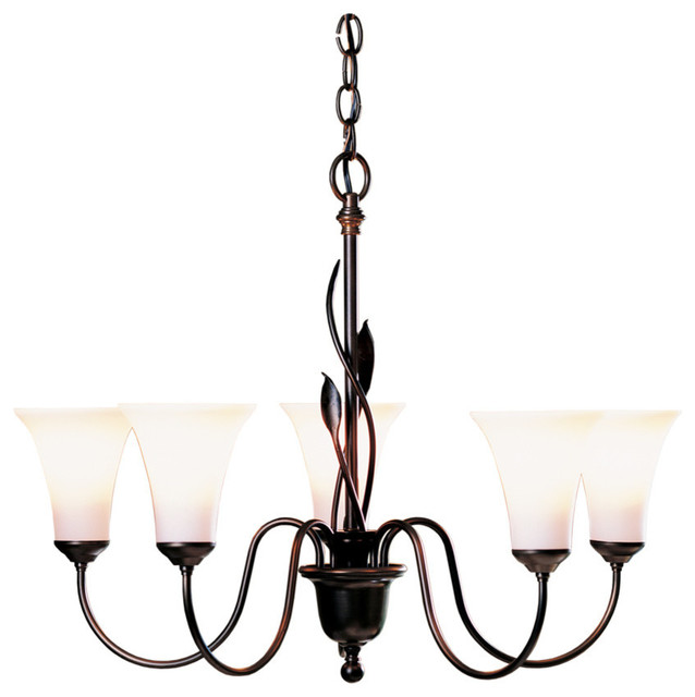Hubbardton Forge Ebay: Hubbardton Forge Forged Leaves 5-Arm Chandelier