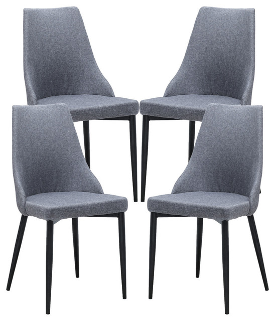 theodora dining chair set of 4 midcentury dining chairs - Set Of Dining Chairs