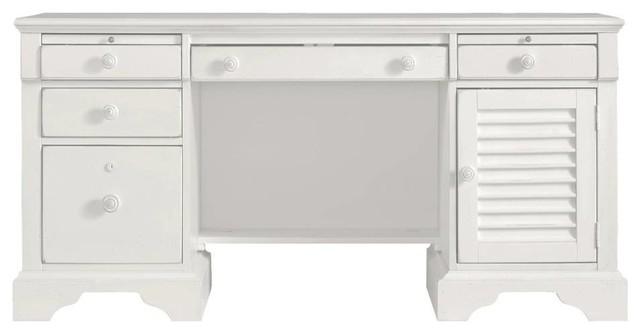 Stanley Coastal Living Retreat Computer File Desk Saltbox White Beach Style Desks