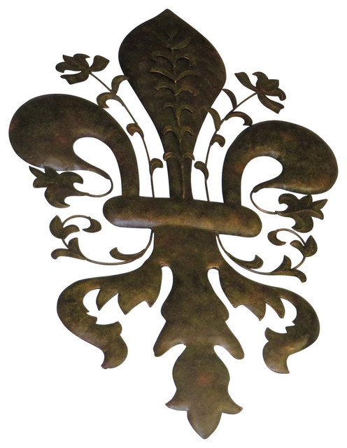 39 Large Fleur De Lis Metal Wall Art Iron Sculpture France Paris European