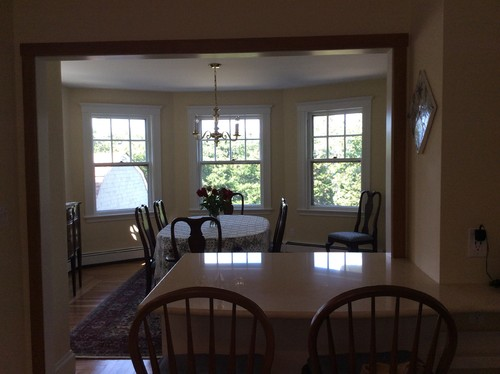 Window treatments or no window treatments for Dining room no windows