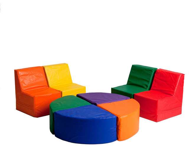 SoftZone 8 Piece Sectional contemporary-kids-sofas  sc 1 st  Houzz : kids sectional sofa - Sectionals, Sofas & Couches