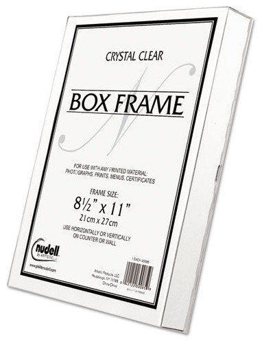 Nudell Un Frame Box Photo Frame Plastic 8 12 X 11 Clear