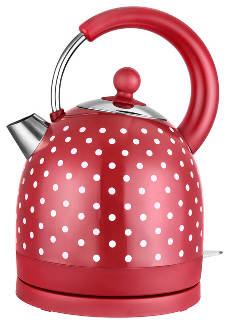 Red Polka Dot Dome Kettle