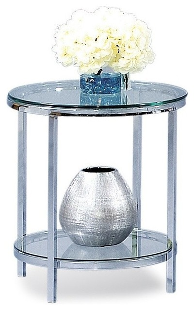 Patinoire Round End Table.