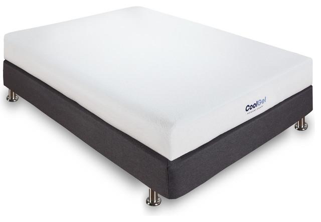 Zora 6-Inch Ventilated Gel Memory Foam Mattress, Queen.