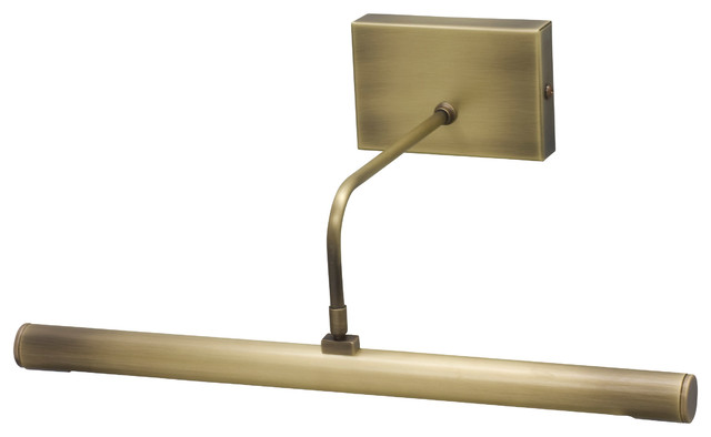 Picture Light Brass: House of Troy DSLED14-71 Slim-Line Antique Brass Picture Light  contemporary-display,Lighting