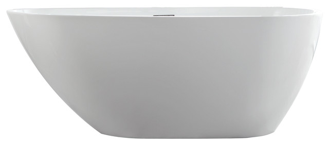 "Poseidon Freestanding Acrylic Bathtub, White, 60""."
