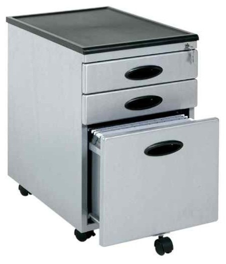 3-Drawer Mobile File Cabinet - Contemporary - Filing Cabinets - by ShopLadder