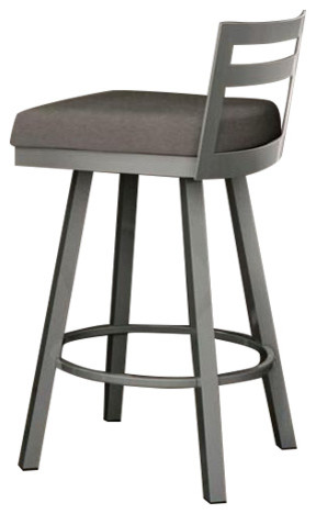 Derek Swivel Bar Stool Glossy Gray contemporary-bar-stools-and-counter  sc 1 st  Houzz & Derek Swivel Bar Stool Glossy Gray - Contemporary - Bar Stools ... islam-shia.org