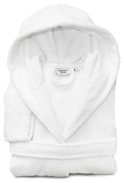 Linum Kids 100% Turkish Cotton Hooded Terry Bathrobe - Contemporary - Kids  Towels - by Linum Home Textiles 05776d939